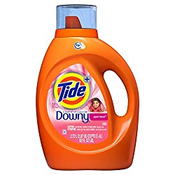 Tide Laundry Detergent Liquid Plus Downy April Fresh Scent, HE Turbo Clean, 92 oz, 59 loads (Packagi