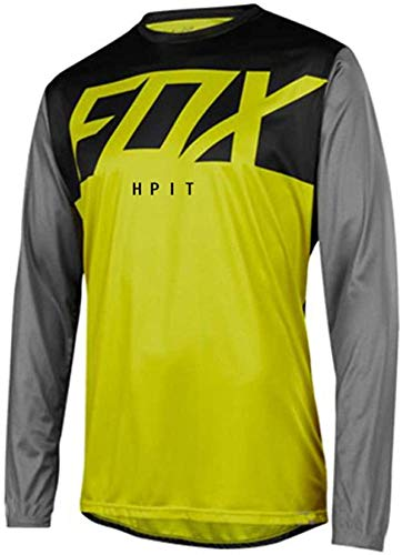 Maillot MTB Hombre Fox Manga Larga Motorcycle Mountain Bike Team Downhill Jersey Bicycle Locomotive Shirt Cross Country Mountain Hpit Fox...