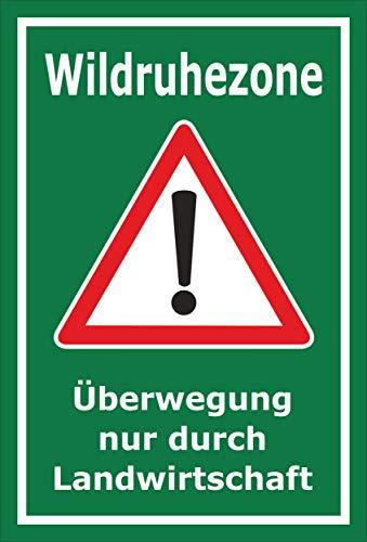 Melis Folienwerkstatt Schild Wild-Ruhezone - 45x30cm - Bohrlöcher - 3mm Aluverbund – 20 VAR S00359-111-E
