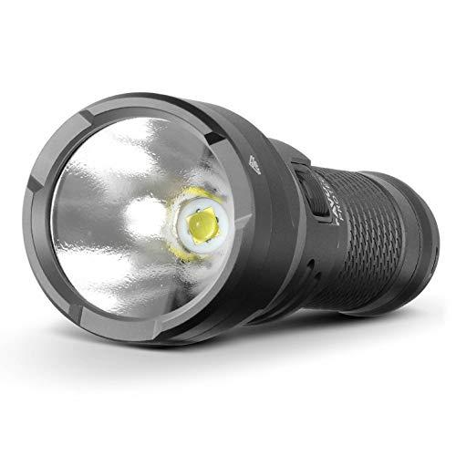 Favour Protech T2517 - Linterna LED de 3000 lúmenes, luz extra brillante con batería recargable de iones de litio y adaptador de alimentación de 12 V, compacta, ligera, ideal para uso en exteriores