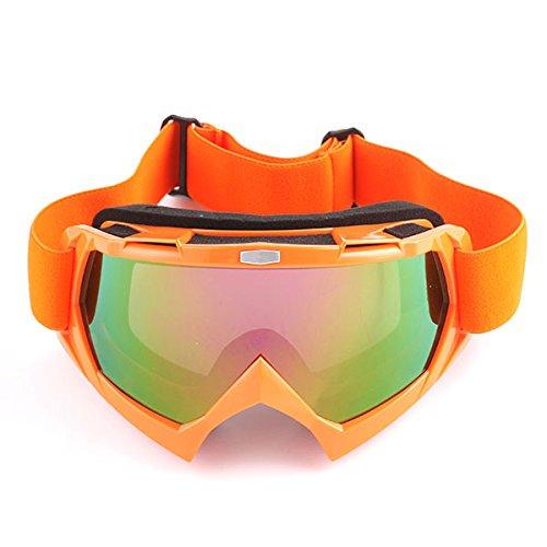 Motocross MX BMX ATV Dirt Bike Ski Snowboard MX Goggles, Arrow Orange