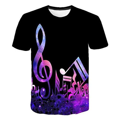 T-Shirt da Uomo CHE Moda T-Shirt da Uomo a Manica Corta da Uomo Casual 3D Artistico Paesaggio Stampa Tshirt per Uomo, Multicolore XT-1,4XL