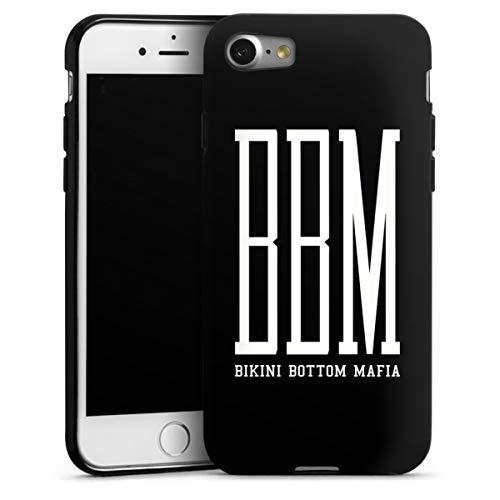 DeinDesign Silikon Hülle kompatibel mit Apple iPhone 7 Case schwarz Handyhülle Spongebozz Bikini Bottom Mafia YouTube