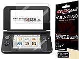 TECHGEAR Displayschutz für Nintendo 3DS XL 2014 - Ultra Klare Schutzfolie für Nintendo 3DS XL [Oben + Unten] - mit Reinigungstuch + Applikationskarte