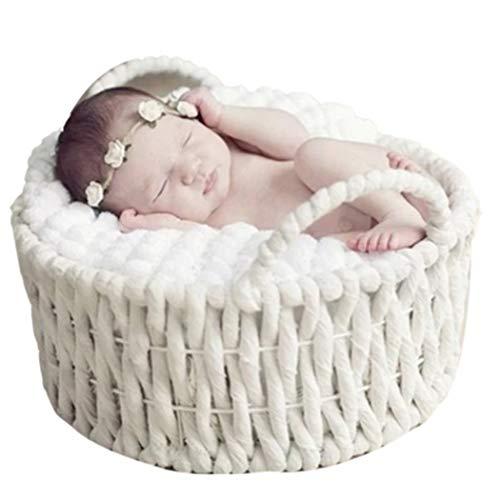 Justdolife Baby Foto Prop Korb Kreative weiche Säuglingsfotografie Prop Baby Posing Prop