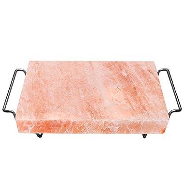 Majestic Pure Pink Himalayan Salt Block - 12in x 8in x 1.5in