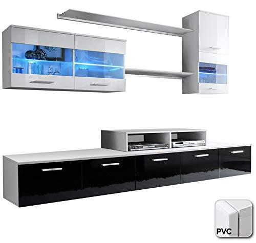 muebles bonitos – Mueble de salón Claudia Mod.1 Puerta PVC (2,5m)
