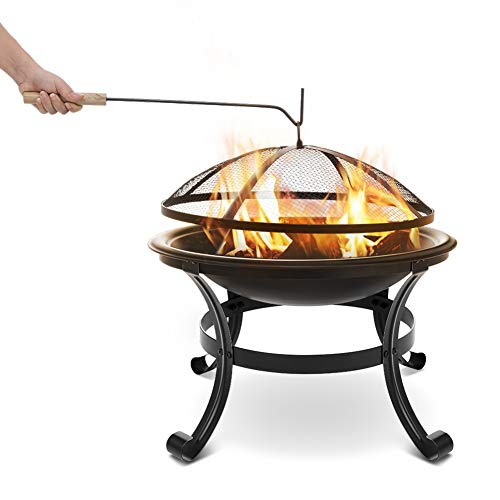CATLXC BBQ Grill Folding Portable Fireplace Brazier Heater Removable for Outdoor Camping Backyard Picnic