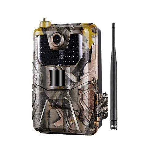 MKIU Cámara De Vida Silvestre, 16mp 1080p Cámara De Rastro Foto Trampas, 0.3s Movimiento De Disparo Activado 120° Ángulo De Monitoreo para La Vigilancia De La Vida Silvestre Jardín De Vigilancia