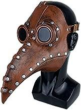 anroog Halloween Mask Plague Doctor Bird Mask Long Nose Beak Cosplay Steampunk Halloween Costume(plague Doctor brown)