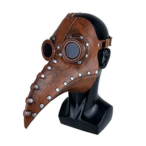 Stegosaurus Plague Doctor Bird Mask Long Nose Beak Cosplay Steampunk Halloween Costume Props Latex Material
