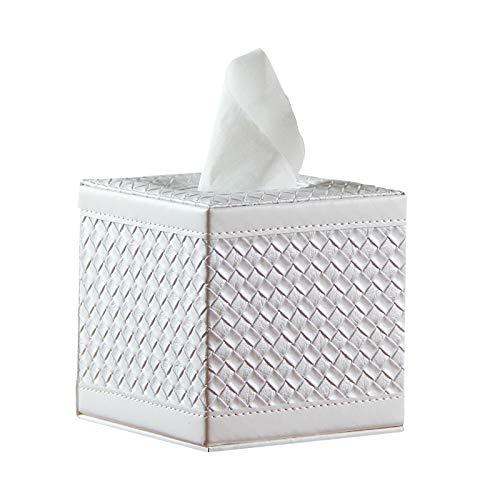 Soporte cuadrado de cuero para caja de pañuelos, organizador de servilletas con fondo magnético, dispensador de papel de pañuelos /toallitas húmedas para el hogar,inodoro,hotel,cochey sala de estar
