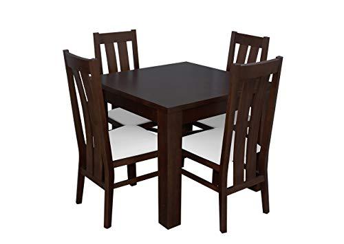 Mirjan24 Esstisch Stuhl Set RB29 Essgruppe, Tischgruppe, Sitzgruppe Esstischgruppe, Esszimmergarnitur (Nuss, Soft 017)