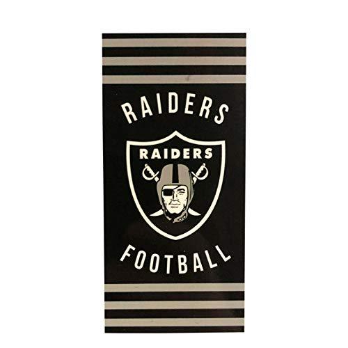 西北公司NFL奥克兰突袭者沙滩巾,30×60 inchesBeach毛巾,30×60英寸,黑色,30×60英寸