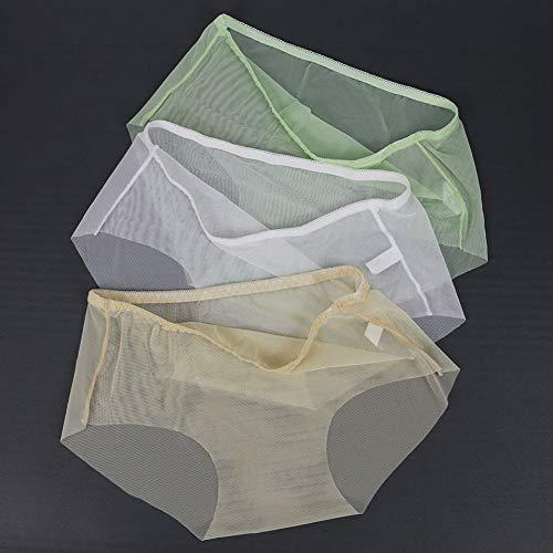 DJDLNK Frauen Transparente Höschen Slips Weibliche Unterwäsche Feste Nahtlose Slips Nylon Höschen Frauen Plus Größe 3 Stück/Los