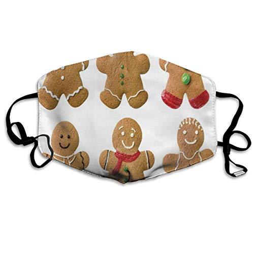 Lebendige hausgemachte Kekse Zuckerhaltige Weihnachtsleckereien Sweet Tasty Pastry Printing Wiederverwendbare waschbare Gesichtsschutzhülle für den persönlichen Schutz
