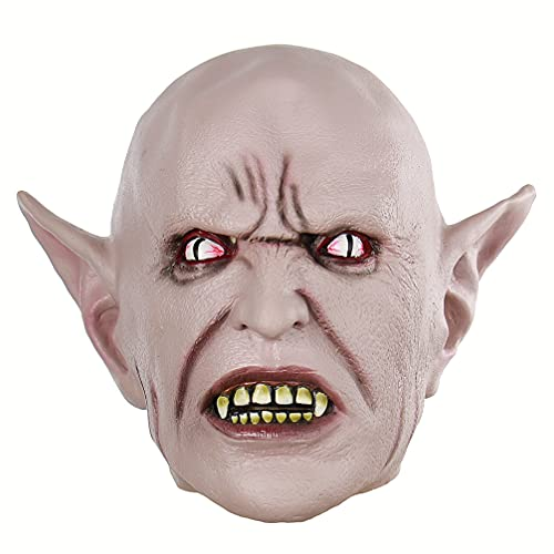 Holibanna 1 Pieza Novedad Máscaras de Halloween Terrorífico Elfo Cabeza de Miedo para Adultos