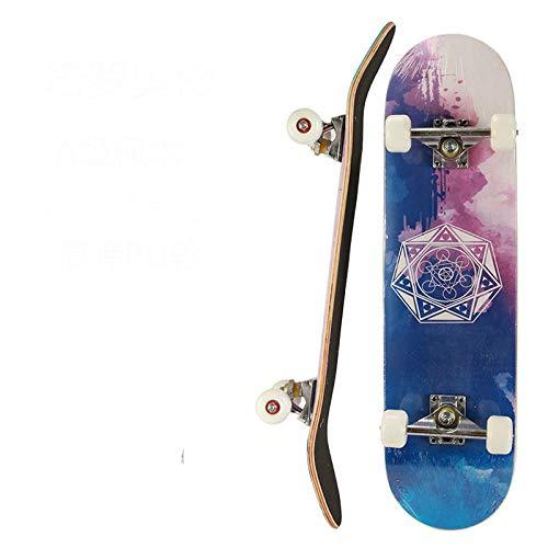 Qingting Scooter, 80 cm, doppelter Neigungswinkel, für Herren und Damen, vierrädriges Skateboard, Erwachsene, Straße, Ahornholz, Tarot Mystery
