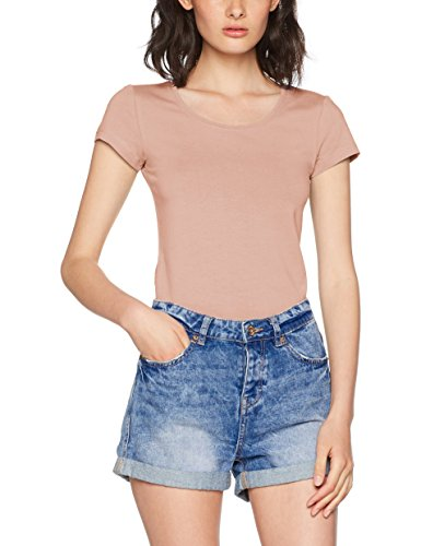 ONLY Damen Onllive Love New SS O-Neck TOP NOOS T-Shirt, Rosa (Misty Rose Misty Rose), 42 (Herstellergröße: XL)