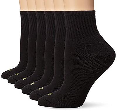 Hue Women's Mini Crew Sock 6-Pack, Black, One Size