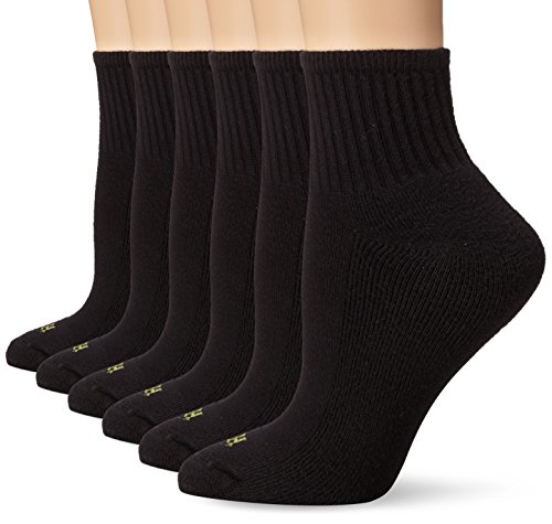 Hue Women's Mini Crew Sock 6-Pack, Black, One Size
