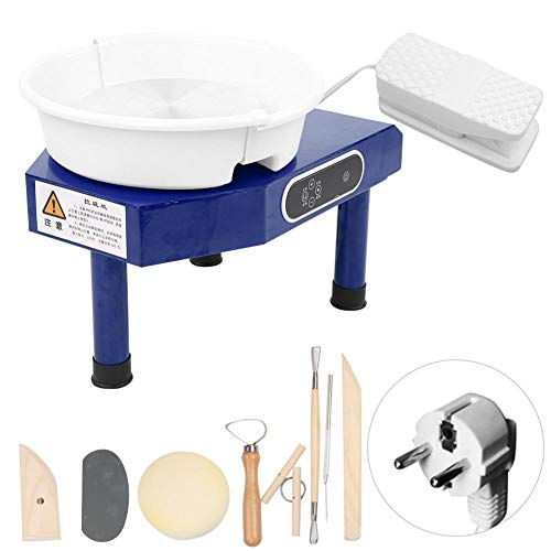 Pottery Wheelmachine, 25 cm platenspeler mini Pottery Machine met afneembaar bekken en voetpedaal Clay Sculpture Tool voor DIY Art Clay Making