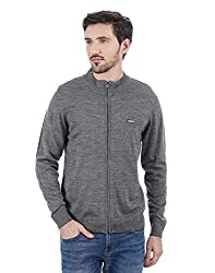 Cloak and  Decker by Monte Carlo Men Grey Cardigan