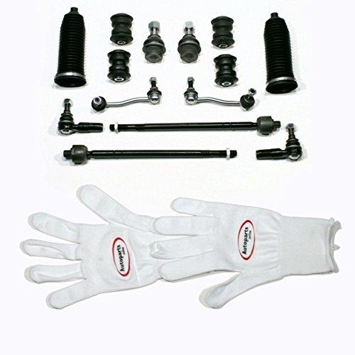 Autoparts-Online Set 60008110 Reparatursatz mit Traggelenk Koppelstange Spurstange Faltenbalg für vorne/für die Vorderachse
