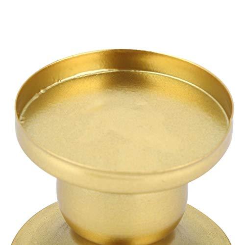 LSAR Soporte de Vela, candelero de 2 Piezas, Fiesta de Boda para decoración de celebración de cumpleaños