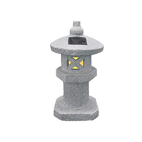 WLVG Escultura de Linterna Japonesa GX&XD, Estatua de decoración Retro Vintage, Figura de Pagoda Solar de jardín, lámpara Decorativa para Patio al Aire Libre, Templo Zen D