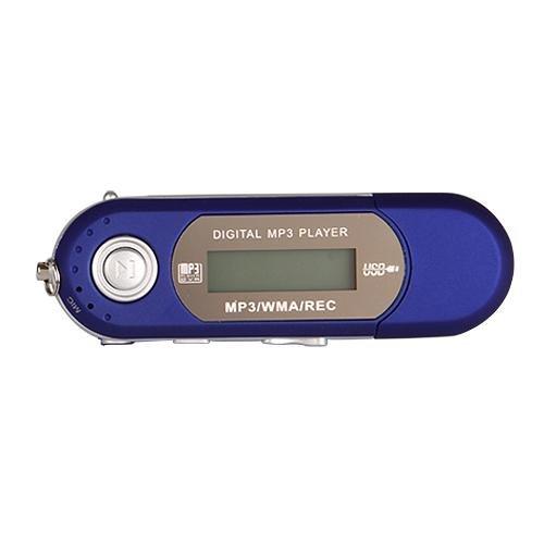 Mini Reproductor MP3 Azul 8GB FM Radio Grabadora De Voz Player