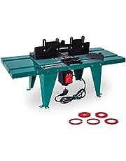 VONROC Freestafel voor bovenfrees met een diameter van 155 mm en 1800 W – parallelle geleiding, versteksteksteksteksteksteksteksteksteksteken, freesadapter en klemmen inbegrepen