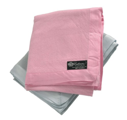 """Cashmere Boutique: 100% Pure Cashmere Baby Blanket (Color: Baby Pink, Size: 36"""" x 44"""")"""