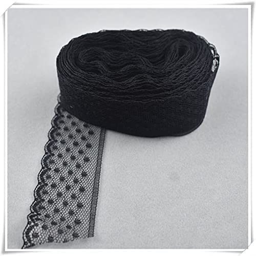 Year-end gift SELCRAFT 10yard Dallas Mall African lace Fabric Fr White DIY Ribbon29MM