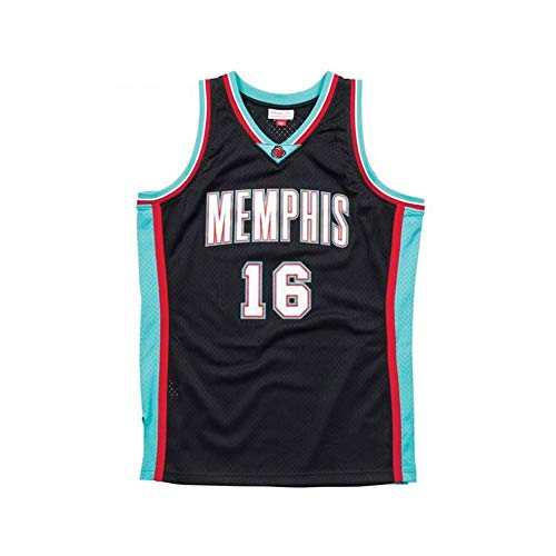 RLZ Jersey Baloncesto Camiseta de Baloncesto de los Hombres, PAU Gasol # 16 del Baloncesto Uniforme, Camiseta sin Mangas XS-XXL (Color : A, Size : L)