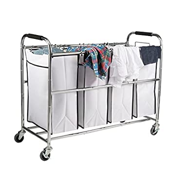 Saganizer Bag Laundry Organizer, Chrome/White