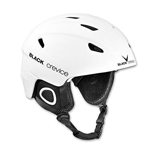 BLACK CREVICE Kitzbühel Casco da sci I Casco da sci design sportivo in diversi colori I Casco da sci uomo & donna I Casco in policarbonato I Casco da sci traspirante I taglie regolabili (L, bianco)