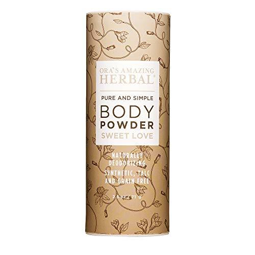 Body Powder, Dusting Powder, Natural Clay Based Powder, No Talc, Cornstarch, Grain or Gluten, Sweet Love Scent, Essential Oil Blend, non GMO, Ora's Amazing Herbal