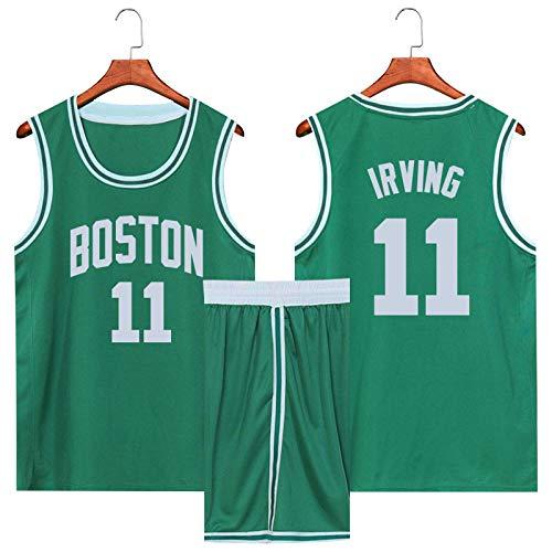Z/A Brooklyn Nets Kyrie Irving # 11 Atmungsaktiv Und Schweißabsorbierend Basketball Kleidung Sommer Student Trainingsanzug Individuelle Westeober,Grün,M