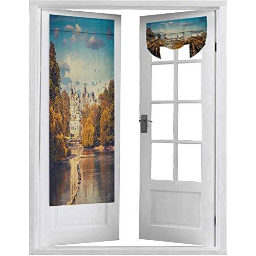 "Door Panel Curtains, Picturesque ST James Park in UK Baroque Architecture Heritage Medieval Landscape, 2 Panels-26"" X 68"" Blackout Door Curtains for Privacy, Multicolor"