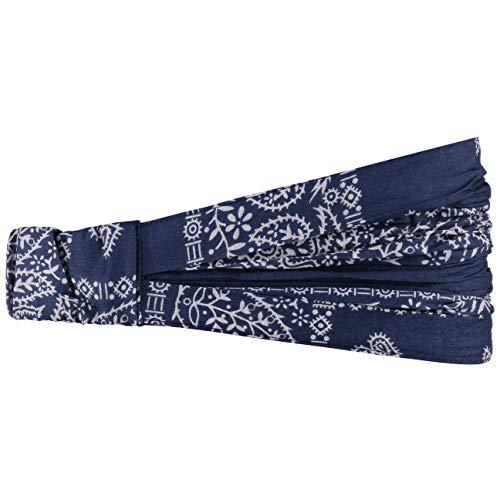 Lipodo Bajala Damen Headband mit Blumenmuster - Stirnband aus Baumwolle - Modisches Haarband in Einheitsgröße (52-60 cm) - Ganzjährig tragbares Kopftuch - Bandana blau One Size
