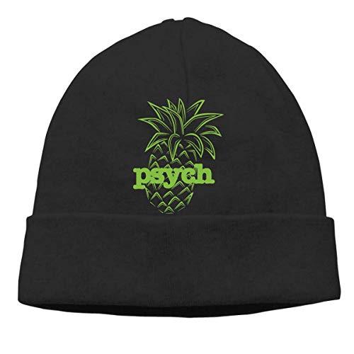 XCNGG Gorro de Punto Gorro de Lana Unisex Psych Pineapple Knitted Hat, Thick Skull Cap