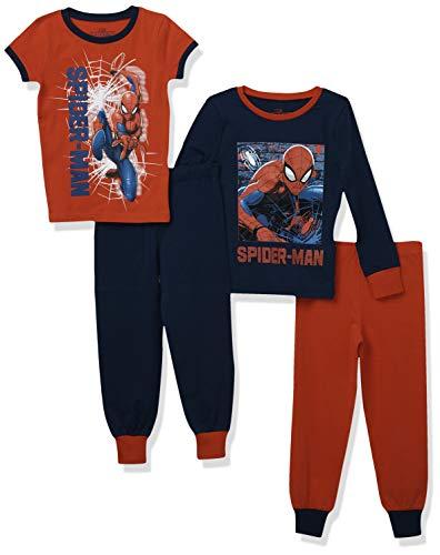 Marvel Jungen Spiderman Schlafanzug Packung mit 2 Slim Fit Mehrfarbig 134