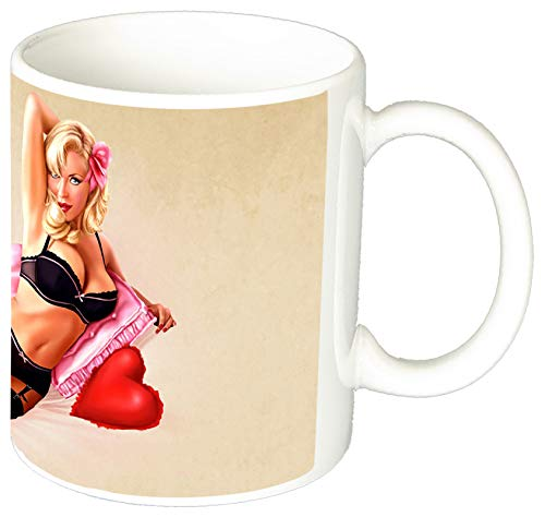 Chica Pin Up Girl Sexy Barbara Jane Tasse Mug