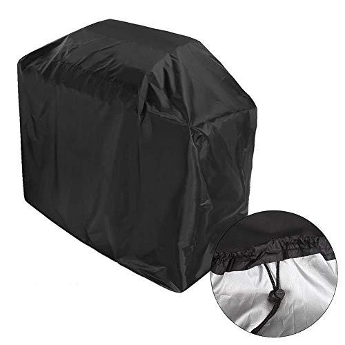 lqgpsx Möbelbezüge im Freien, wasserdichte staubdichte Grillabdeckung, robuste Schutzabdeckung 210D Oxford Cloth, schwarz (Größe: XL-170 × 61 × 117 cm)
