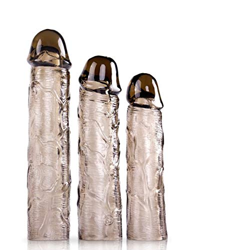 SAMMOR Wiederverwendbare Penis Sleeve Extender Silikon Erweiterung,Penismanschette mit Hodenschlaufe, Penishülle zur Penisverlängerung & Erektionssteigerung Sex Spielzeug Cock Enlarger Kondom Mant