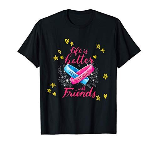 Freundschaft BFF BBF T-Shirt für zwei Mädchen Bestfriends T-Shirt