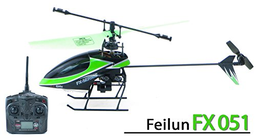 efaso fx051 – Hélicoptère Feilun 4 canaux 2.4 GHz Rotor Simple hélicoptère – Petit et wendig, RTF