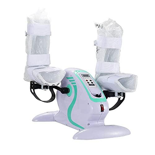 AMAZOM Ejercitador De Pedal Motorizado para Piernas Y Brazos, Mini Bicicleta Estática con Protector De Piernas, Bicicleta Eléctrica Motorizada para Ejercicios para Ancianos