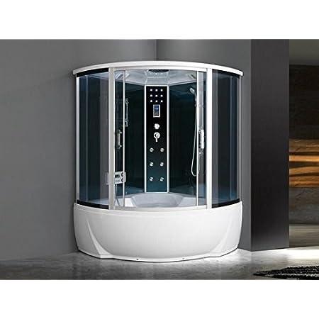 Bagnoitalia Cabina Idromassaggio 150x150 6 Getti Con Vasca Box Doccia Multifunzione Sauna Bagno Turco I Amazon It Fai Da Te